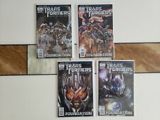 Transformers Dark Of The Moon Foundation Mini Series Complete 1 to 4 comics nm