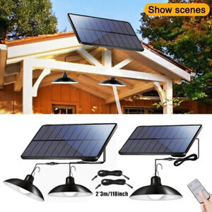 LED Solar Light Retro Remote Control Outdoor Waterproof for Garden Patio Camping
