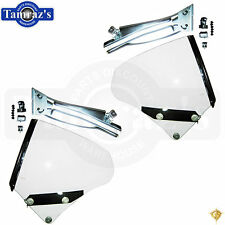 68-69 GTO Rear Quarter Window Glass Assembly Hardware Track Guide Seal  PAIR