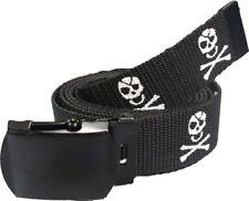 "Black Pirate Jolly Roger Web Belt (54"")"