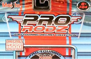 Maisto 1/64 Pro Rodz 8 loose cars - Camaro Mustang Malibu 37 Ford Nomad