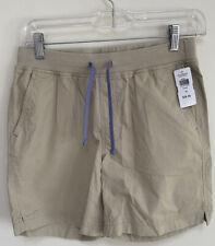 🆕� L.L. Bean Girls Great Adventure Shorts Size 16 Tan Purple New Camp Uniform