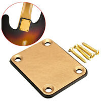 Gold Neck Plate with 4 Screws Replacement Part for Fender Strat Electric Gu O8V1