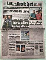 GAZZETTA DELLO SPORT 11 SETTEMBRE 1998 RAVENNA JUVENTUS 0-2 BAGGIO DEL PIERO 9