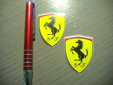 2  x  Aufkleber Sticker FERRARI Original Official Scudo NEU 50 x 35