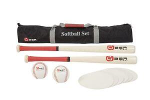 New Softball Set With Softballs Bats And Bases Softball Set Softball Equipment