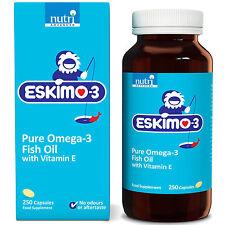 Eskimo-3 Pure Omega-3 Fish Oil with Vitamin E - 250 Capsules