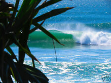 "36"" x 24"" for glass frame poster photo burleigh heads waves beach  queensland"