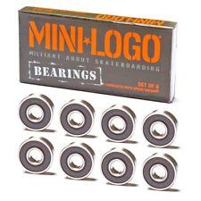 MINI LOGO SKATEBOARD BEARINGS POWELL - SET OF 8 - SUPER FAST - FREE SHIPPING