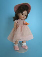 "Vintage 1952 Vogue 8"" GINNY Doll Painted Lash Strung in Pink Outfit"