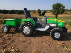Traktor mit 2 Motoren je 12V Traktor mit Anhänge Fahrzeug Top Qualität