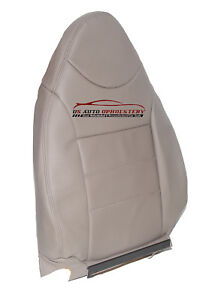 2001-2004 Ford Escape Driver Side Bottom Synthetic Leather Seat Cover Gray