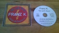 CD Rock Franz K - Wir woll'n Bonn (2 Song) Promo STEPS