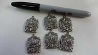 plated brass stamping finding drop dangle embellishment Aztec style  A130