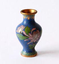 Vaso Antico Cloisonnè Metallo Cinese Oriental Old Ancient Antique Vase H.10 cm
