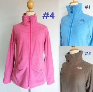 7041 The North Face Narilla Zip Jacket Soft Fleece Top Women Pink Blue Brown M