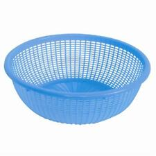 Thunder Group PLWB001, 12 1/2-Inch Plastic Round Colander without Handles, Blue