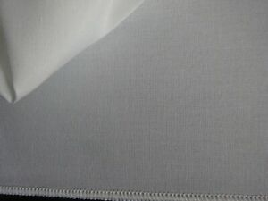 Gardinenstoff Vorhangstoff Stoff leicht transparent,naturweiß 290cm x 390cm ,neu