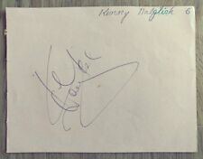 Hand Signed Autograph Page: Kenny Dalglish / Des Lynam - Liverpool FC