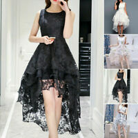 USWomen's Short Gown Prom Dress Floral Lace Formal Cocktail Evening Party Dress