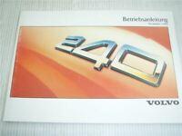 Volvo 240 244 245 Betriebsanleitung 1988 Bedienungsanleitung