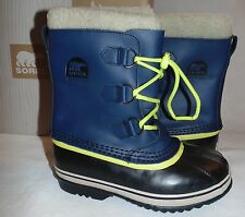 Sorel Yoot Pac TP NOC Toddler Size 10M Cold Weather Boots Waterproof Blue/Yellow