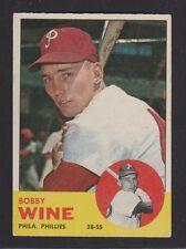 1963  TOPPS  BASEBALL # 71  BOBBY  WINE   EX  CONDITION/READ DESC.   INV 952