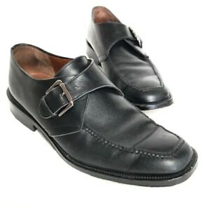 Cole Haan City Men's Size 10.5 Black Leather Dress Shoes with Side Buckle