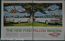 1960 FORD FALCON Station Wagons 2-page advertisement, Alice in Wonderland