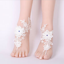 Bridal Wedding Shoes Sandals White Lace Beach Anklets Accessories