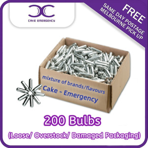 [CAKE EMERGENCY] Cream Charger 200 Bulbs Loose/Overstock/Damaged Packaging