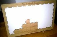 Personalised drop box Oak frame puzzle Wedding Guest Book