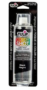 Color Shot Instant Fabric Color 3oz. Black Spray Paint For Fabric Soft Touch New