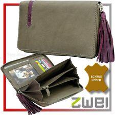 zwei Damen Portemonnaie(Leder: TAU)Kugelschreiber-Fach Geldbeutel Geldbörse neu