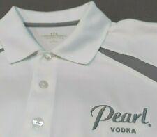 Men's ~ PEARL VODKA ~ Embroidered Golf Polo Bartender Shirt ~ Large ~ Vansport