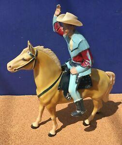 1950's Hartland ROY ROGERS HORSE & RIDER w/Saddle, Hat