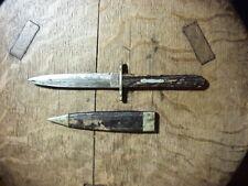 Antique 19th Century BOWIE BOOT KNIFE DAGGER Made  MANSON SHEFFIELD  Bone Handle