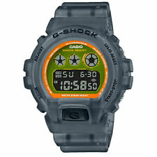 G-Shock By Casio Men's DW6900LS-1 Digital Watch Clear Black Timepiece Active NWT