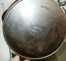 Wagner National #1359C Cast Iron Skillet #9 Seasoned & Cleaned Restored Excelle
