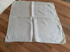 "VINTAGE MACCLESFIELD SILK CREAM POCKET SQUARE/HANDKERCHIEF APPROX 15"" SQ - VGC"