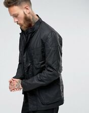 BNWT Mens Barbour International Crank Wax Jacket in Black - Size Medium