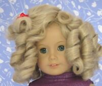 SHIRLEY  Lt. Blond Full Cap Doll Wig Size 10-11 will fit American Girl Sz