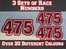 3x Race Numbers Motocross Custom Vinyl Sticker Decals Trials Dirt Bike N16