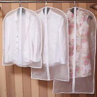 1/3pcs Transparent Garment Bag Suit Dress Overcoat Clothes Dust Proof PEVA Cover