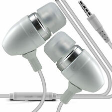Coppia - Bianco Vivavoce Auricolari Con Microfono Per Samsung Galaxy J1 Ace