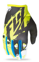 NEW 2017 FLY KINETIC BLACK/LIME MOTORCYCLE GLOVE MX ATV UTV BMX MTB ALL SIZES