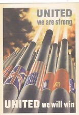 "*Postcard-""United We Are Strong...United We Will Win"" (#82)"