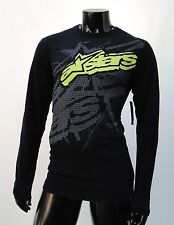 Alpinestars Motocross richter L/S thermal black atletic mens t shirt large