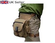 Metal Detecting Finds Bag / Pouch,Soft Brown Canvas,Drop Leg & Waist Fitting..