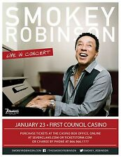 "Smokey Robinson ""Live In Concert"" 2016 Oklahoma Tour Poster-R&B, Soul, Pop Music"